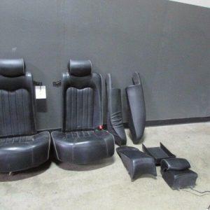 Maserati-M139-Quattroporte-Rear-Seat-Assembly-Black-w-Gray-Piping-Used-291908802851