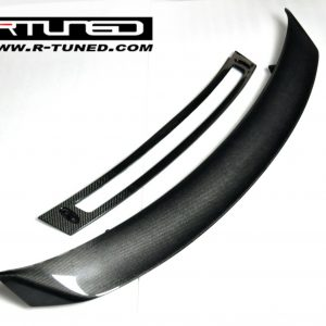 Audi-R8-Spider-Carbon-Fiber-Rear-Spoiler-Wing-w-Carbon-Fiber-Lower-Base-New-301848838244