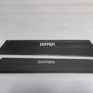 Ferrari-348-BlackMatte-Carbon-Fiber-Door-Step-Plates-Kick-Plates-Panels-Pair-121869068218